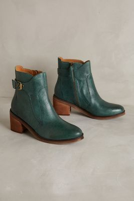Latigo Angostina Booties Green Boots #anthrofave