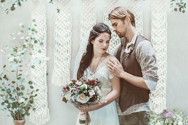 Узелки на память: 50 свадебных идей для макраме - The-wedding.ru