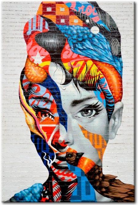 Cuadro decorativo Mujer liberada es un ejemplo de arte moderno, que es irremplazable en los interiores minimalistas y de un color. ¡Tienes que comprobarlo! ღ