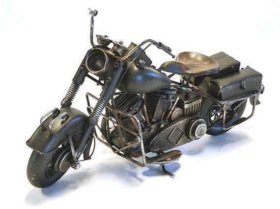 Large 1937 Harley Davidson Knucklehead Looking Motorcycle Gas