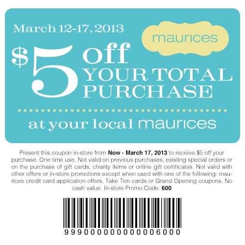 picture relating to Maurice Printable Coupons named Promo codes maurices / On the internet Wholesale
