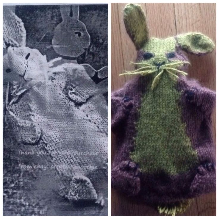 Nailed It. Well, close enough. Knitting project, a  Rabbit hot water bottle cover.
