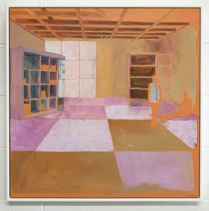 Kate Small, Elsdon Turf, 2014, Oil on board, 700 x 700mm (Framed). From the exhibition, Field (13 September - 4 October 2014)