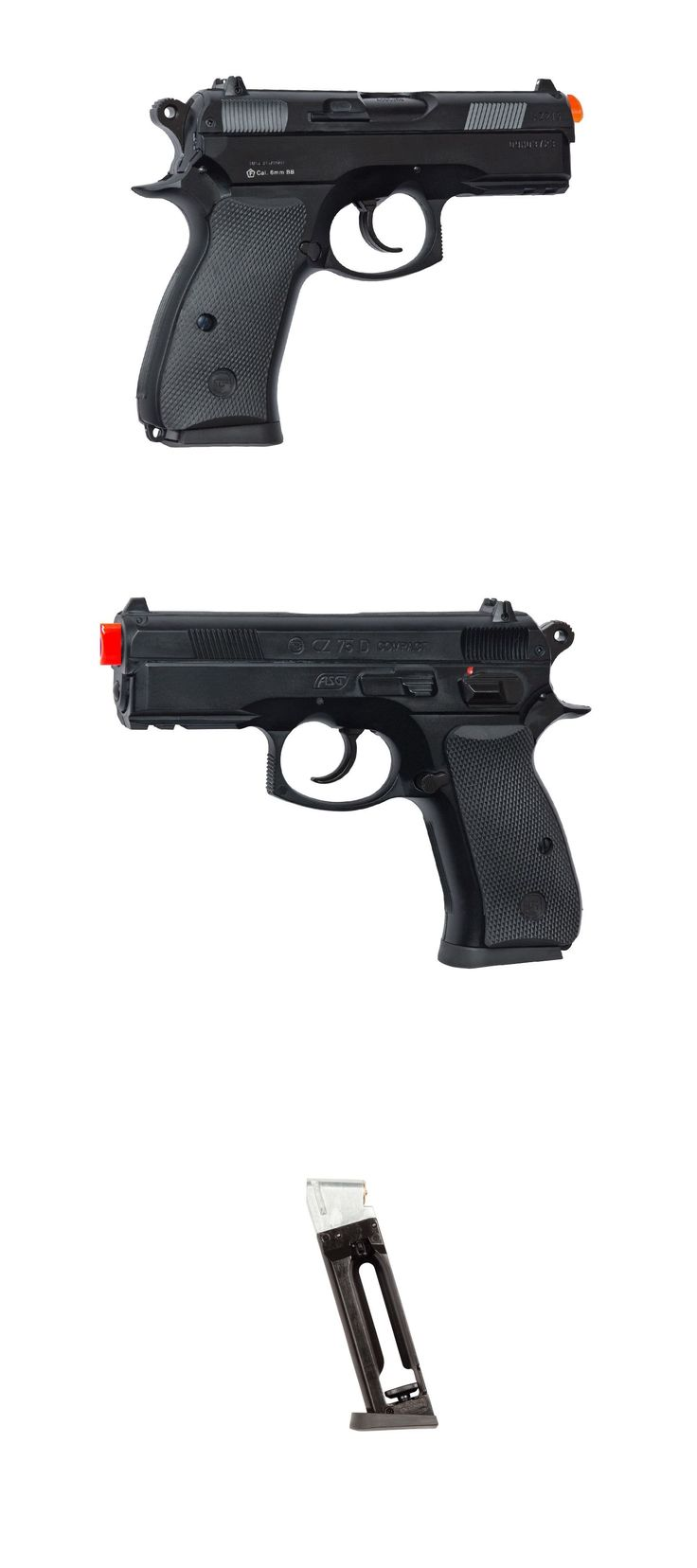 Other Gas Airsoft Guns 31685: Asg Licensed Cz 75D Compact Airsoft Gas Pistol Co2 Metal Slide Tactical Rail BUY IT NOW ONLY: $52.2