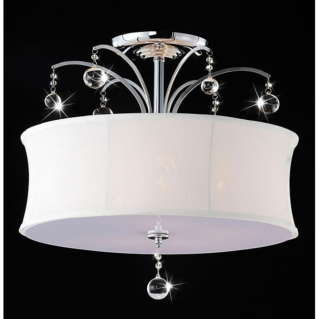 Drum Light. Flush Mount ChandelierClear ...
