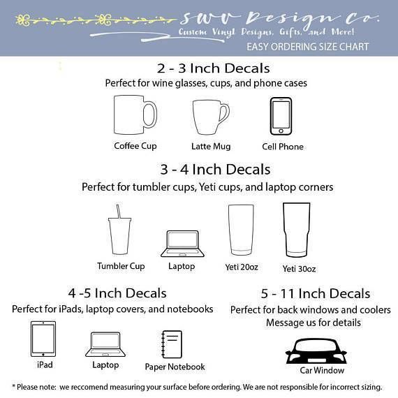 Image Result For Coffee Mug Decal Size Chart Vinyl