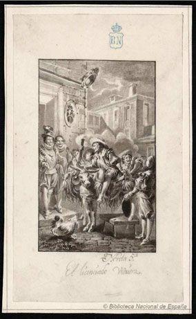 El licenciado Vidriera    Dessins relatifs à Cervantes / D. Quichotte - Biblioteca Nacional de España - Dibujos - http://cervantes.bne.es/