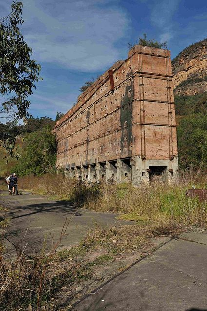 Shale Oil Works abandoned in 1952. Glen Davis, Capertee Valley, New South Wales, Australia.