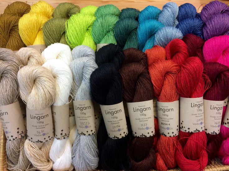 Linen yarn for knitting