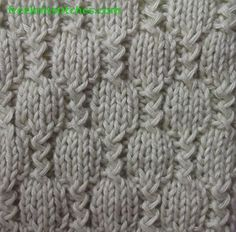 Stream knitting stitch