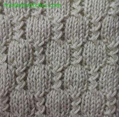 Stream knitting stitch