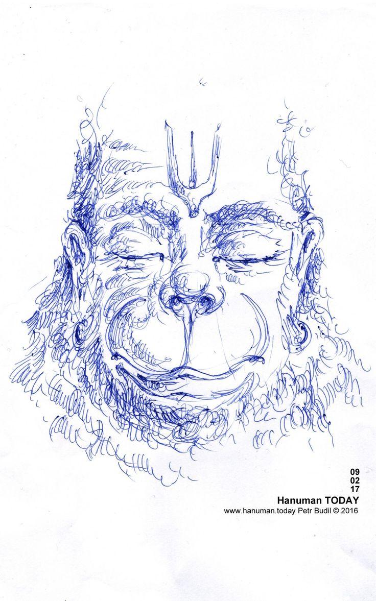 Thursday, February 9, 2017 Daily drawings of Hanuman / Hanuman TODAY / Connecting with Hanuman through art / Artwork by Petr Budil [Pritam] www.hanuman.today #bajrangbali  #hanuman #artworkoftheday  #arteveryday  #Chalisa #hanumanchalisa #bhakti #ramayana #art #yoga  #jaihanuman #rama  #sita #janaki #lakshman  #DailyDevotional  #anjaneya  #spiritual  @www.hanuman.today