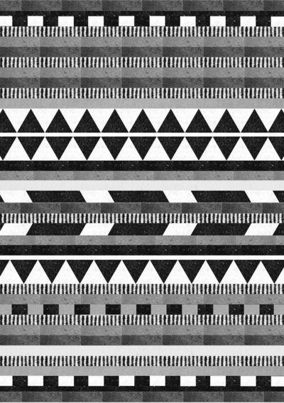 DG Aztec No.1 Monotone Art Print by Dawn Gardner | Society6