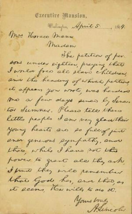 Letter From Abraham Lincoln