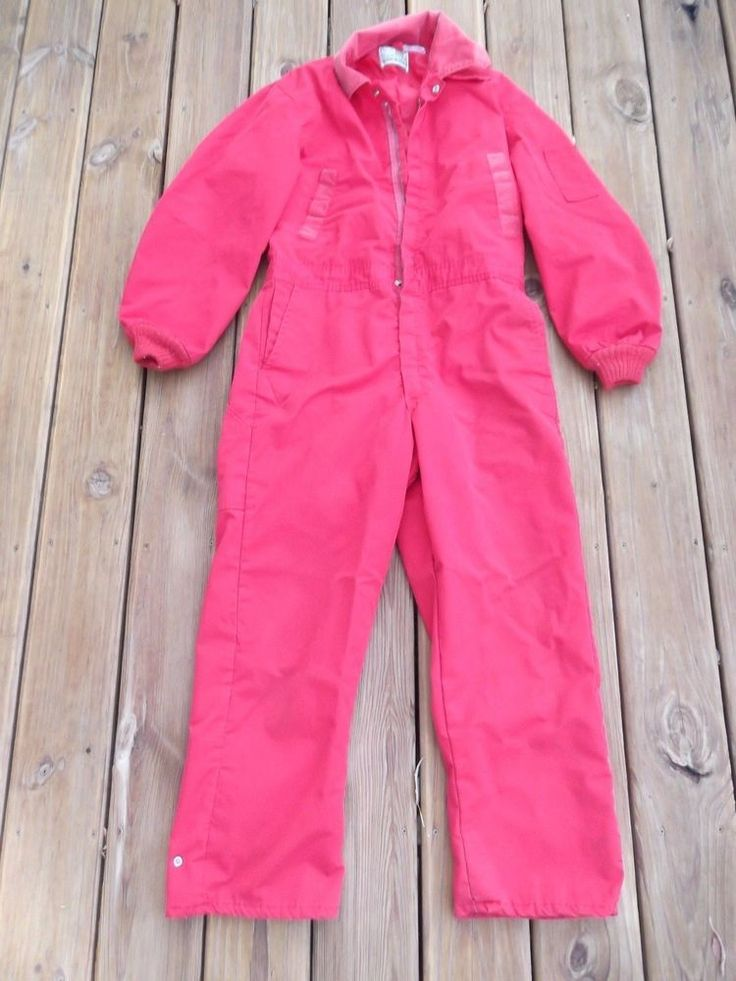 Vintage Sears Snowsuit Insulated Coveralls - Red - 40 Regular #Sears