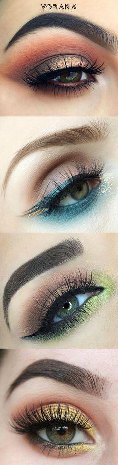 Looks de ojos con colores llamativos. #Ojos #Sombras #Eyes