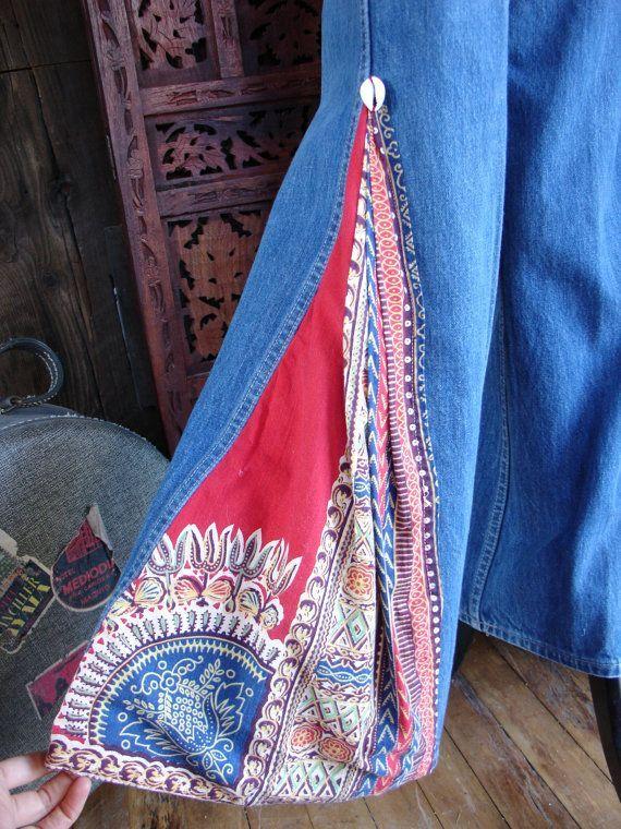 BELL BOTTOM Jeans. Deluxe Dashiki Elephant Bells. 28 X by Ilumina2, $325.00