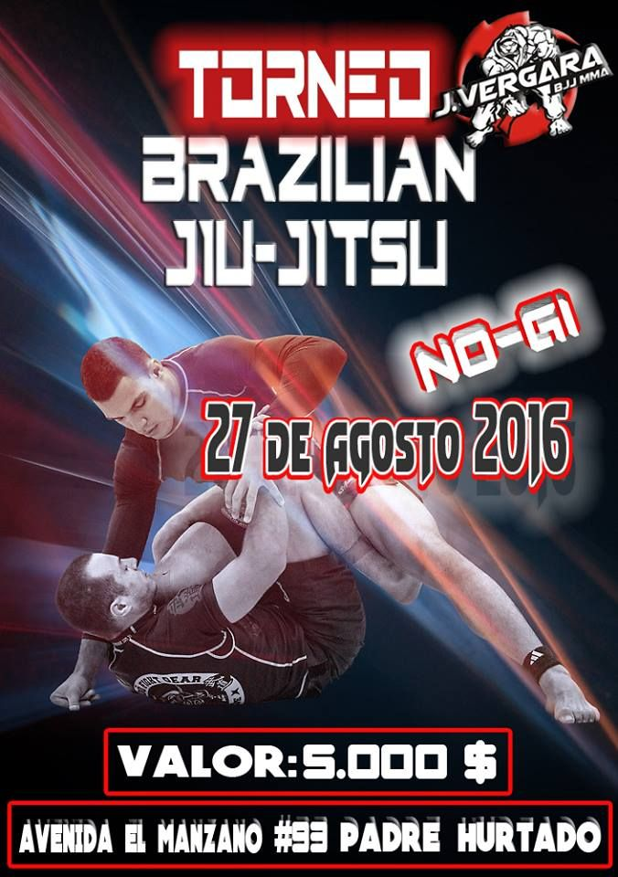 Torneo de BJJ Jui Jitsu No Gi, academia www.jvergara.cl