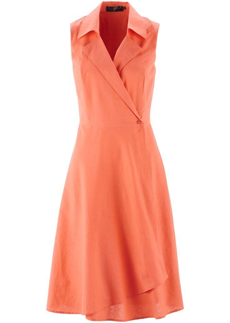 Jetzt anschauen: Klasické zavinovací šaty, vpředu s perličkou na zapínání, s límcem s klopami a hravým dolním lemem, volný střih. délka cca 108 cm ve všech vel., lze prát.