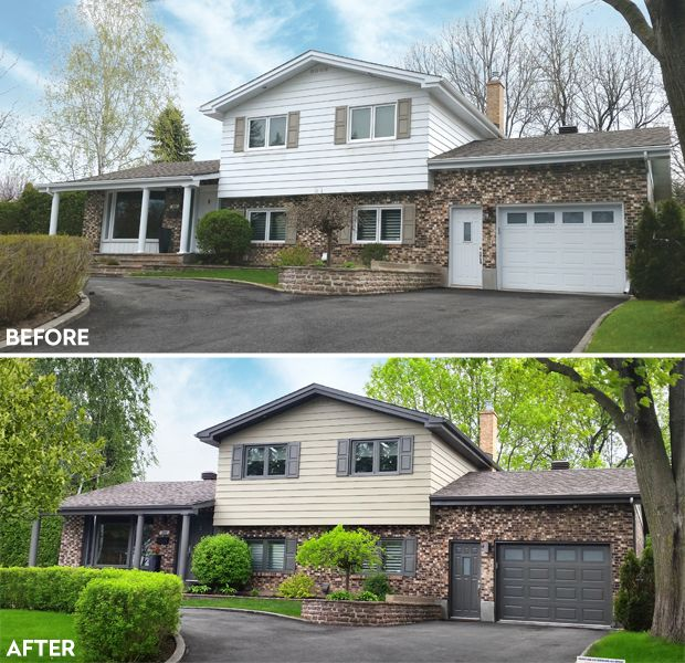 169 best curb appeal ideas images on pinterest for Siding and stucco combinations