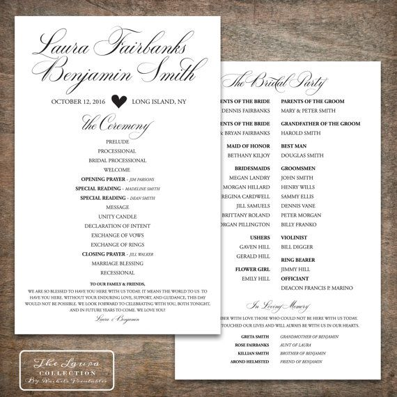 9 best printable wedding programs images on pinterest marriage printable wedding program design pdf the by rachelsprintables stopboris Choice Image