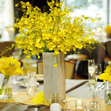 Simple and Elegant yellow centerpiece