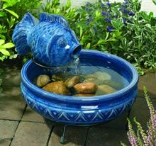 Solar Powered Water Fountain For Small Garden With Fish Statue Interior  Design   GiesenDesign