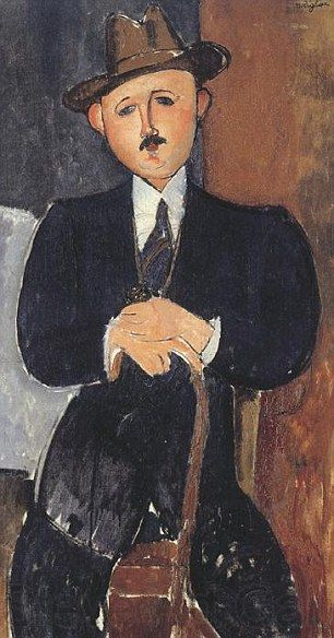Seated Man With a Cane: Amedeo Modigliani's 1918 painting is at the centre of a court battle after a claim it was stolen from a Jewish dealer by the Nazis during World War Two