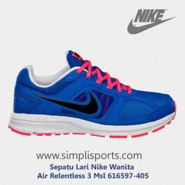 Sepatu Lari Nike Wanita Air Relentless 3 Msl 616597-405 ORI