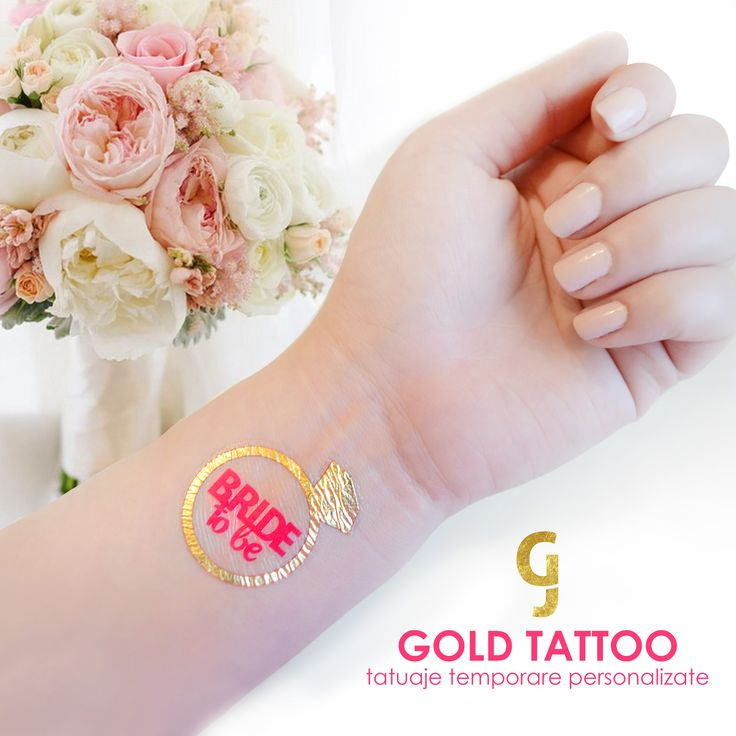 Temporary jewelry tattoo for brides! Bride tattoos
