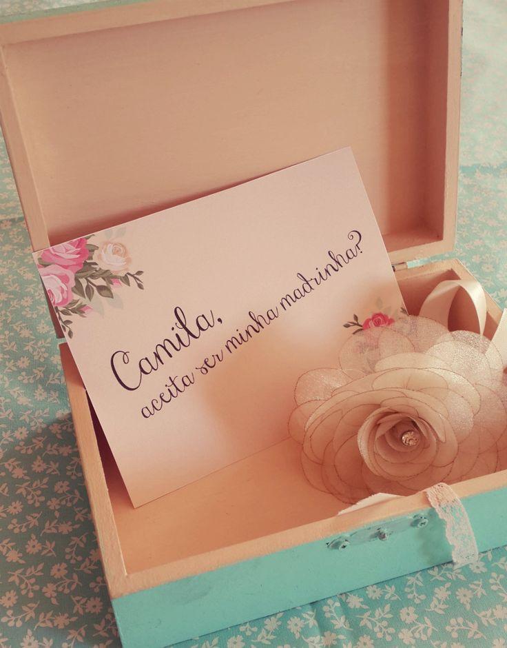 Que tal convidar suas madrinhas com estilo? Convite floral super romântico. #madrinhas #convite #casamento #bridesmaids http://papeldearroz.cc/index.php/produto/convite-madrinha-flower/