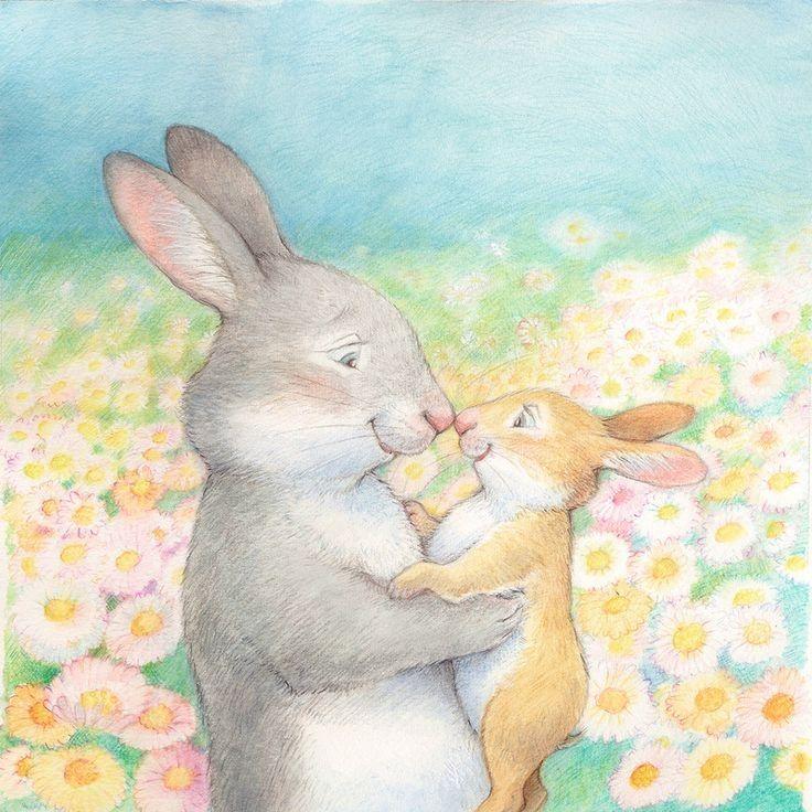 картинка маленький зайчонок улыбнулся маме участок под посадку