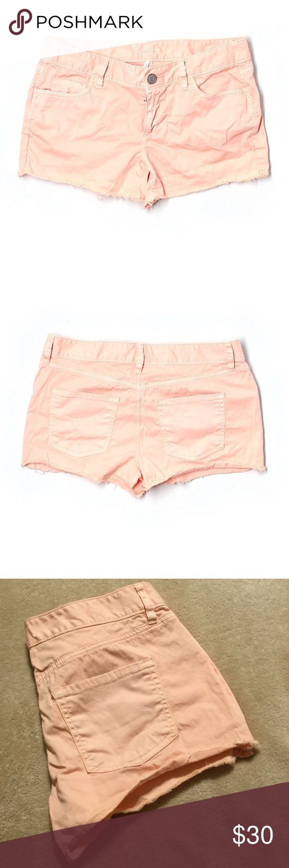 Peach shorts Peach low rise shorts 3 inch inseam. LOFT Shorts