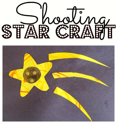 cute shooting star craft idea for kids.