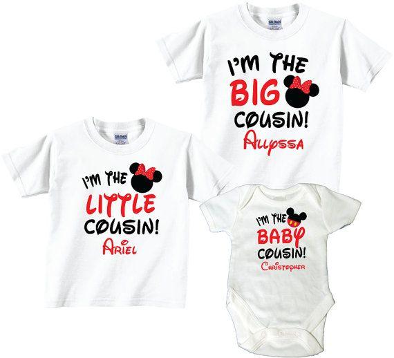 Big Cousin Little Cousin Baby Cousin 3 T-Shirt Sibling Set ...