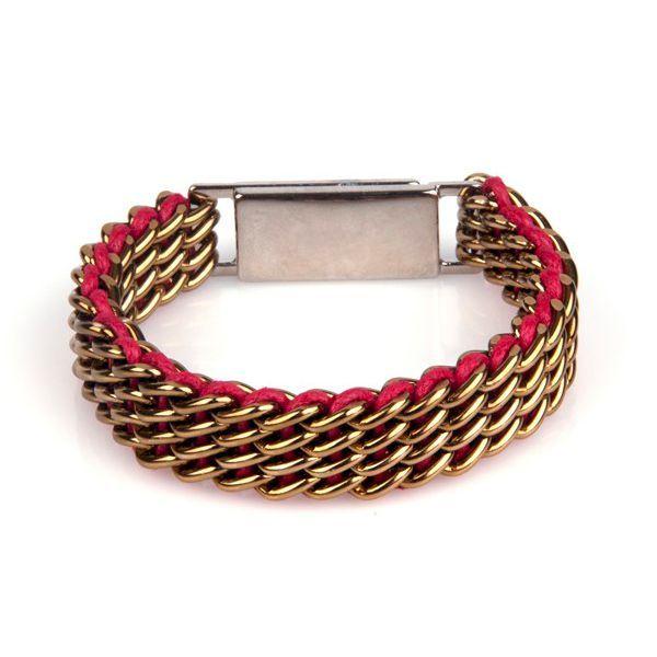 Ręcznie tkana bransoletka z charakterystycznym splotem marki KOD