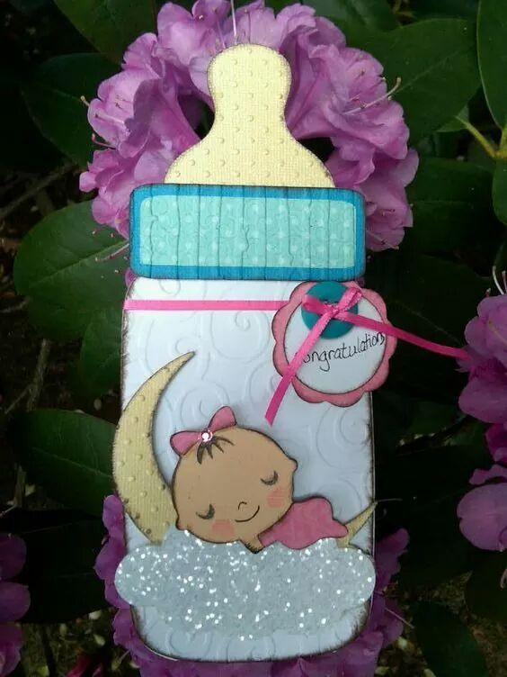 Los biberones (mamilas, teteros) son uno de los elementos más típicos de un baby shower y en esta ocasión te mostramos como hacer invitacio...