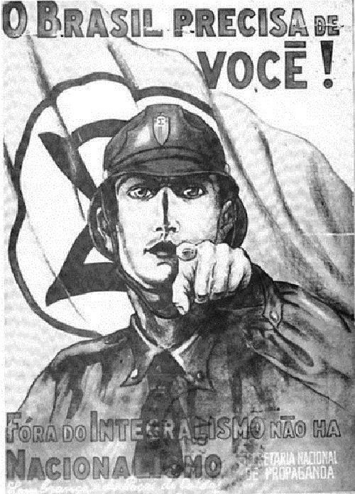 Brazilian Integralist, 1937. Propaganda poster.
