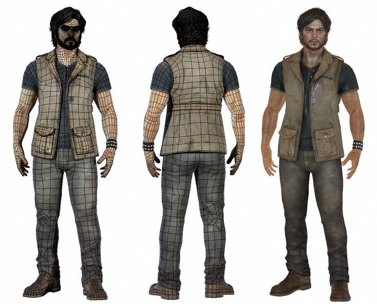 Male game character - ArtStation - Naughty Dog Character Test, Rhangga Putra