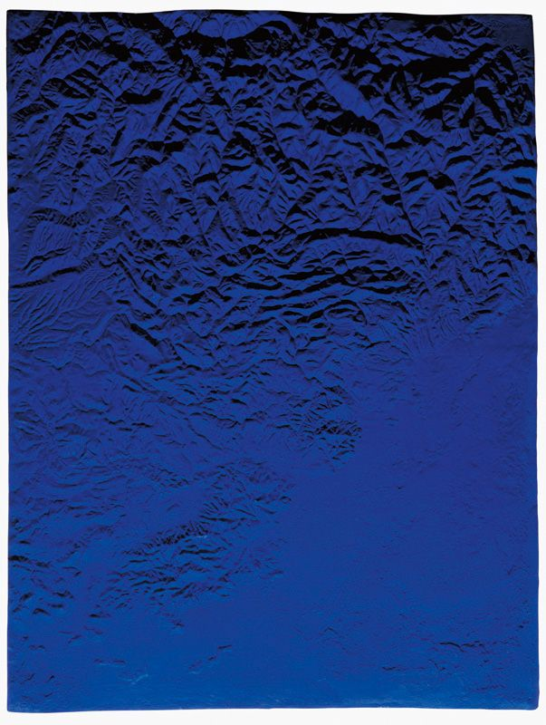 "Yves Klein, Relief planetaire, ""Région de Grenoble"" (RP 10), 1961"