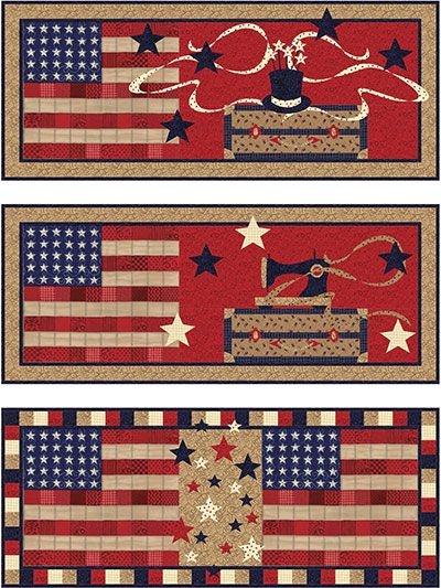 Spring Amp Summer Quilt Patterns 3 Patriotic Table Runners