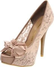 Chaussure dentelle Rose