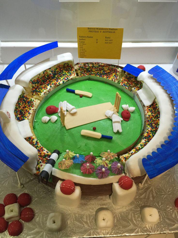 #cricket #stadium #cake More