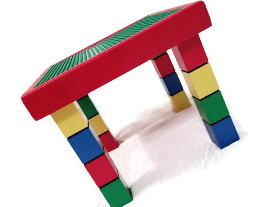 Children's Table and Chair inspired by LEGO by WooderfulCreations