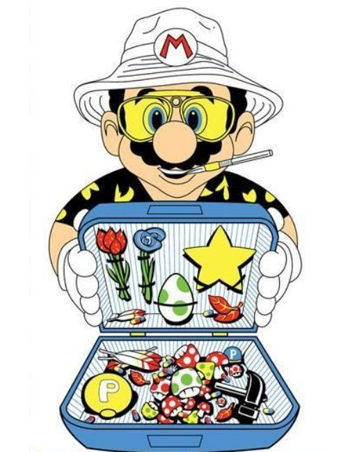 I would def kick it with Mario Hunter S.   Thompson style :D