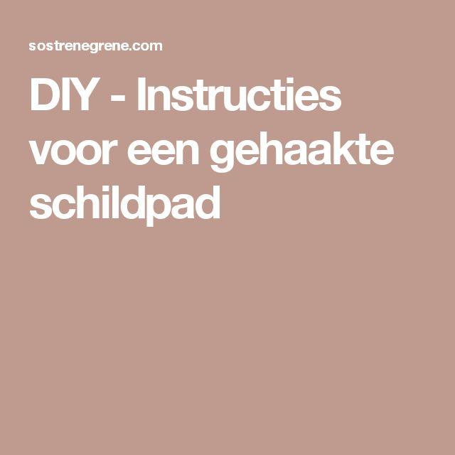 DIY - Instructies voor een gehaakte schildpad