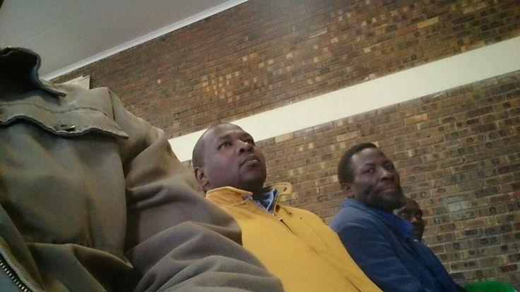Chief Madzanga II and his head induna Mr. Mthethwa
