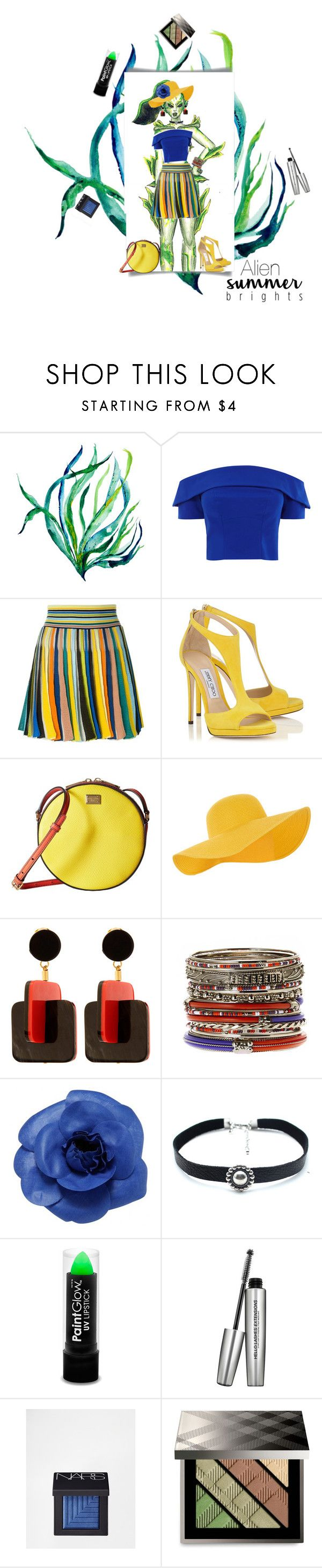 """Original Art; alien styled vacation"" by sachi-grl ❤ liked on Polyvore featuring Missoni, Dolce&Gabbana, Accessorize, Marni, Amrita Singh, Chanel, Child Of Wild, It Cosmetics, NARS Cosmetics and Burberry"