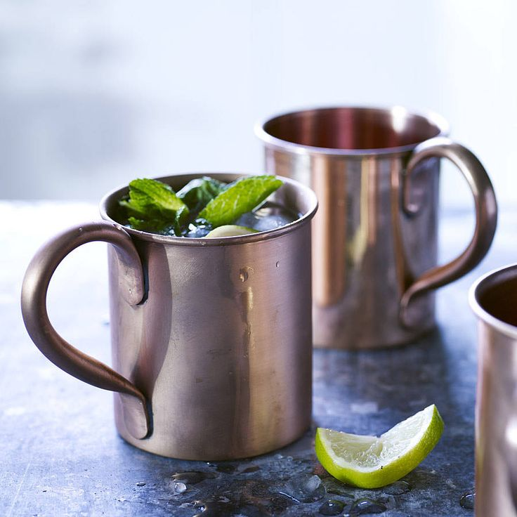 Our traditional copper mugs make the perfect vessel for cold beverages.