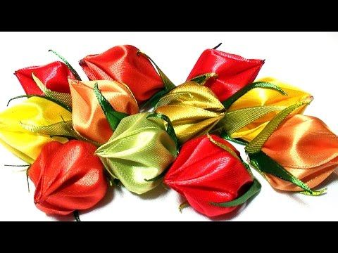 DIY New kanzashi Petal / How to Make Flower Petals / Kanzashi Flower Petals Tutorial - YouTube